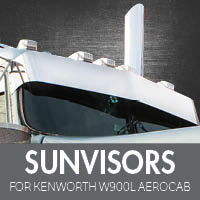 Sun Visors for Kenworth W900L Aerocab