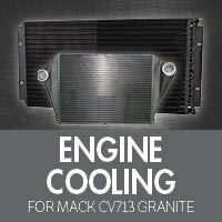 Mack CV713 Granite Engine Cooling
