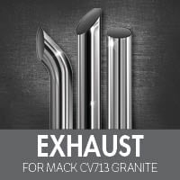 Exhaust for Mack CV713 Granite