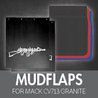 Mack CV713 Granite Mud Flaps