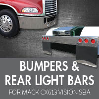 Bumpers for Mack CXN613 Vision SBA