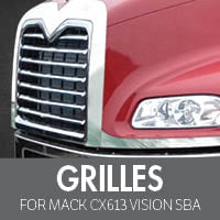 Grilles for Mack CXN613 Vision SBA
