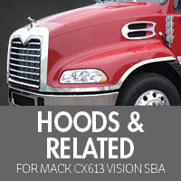 Hoods & Related for Mack CXN613 Vision SBA