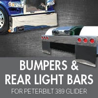 Bumpers for Peterbilt 389 Glider