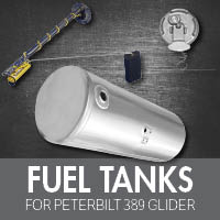 Fuel Tanks for Peterbilt 389 Glider