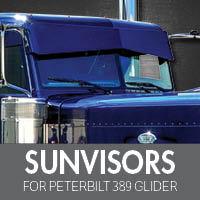 Sun Visors for Peterbilt 389 Glider