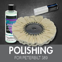 Polishing for Peterbilt 389