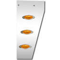 4 Inch Factory Replacement Cowl Panels With Light Options Fits Peterbilt 379