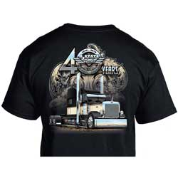 4 State Trucks 40 Years Black T-Shirt - Adult