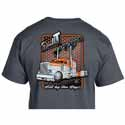 Chrome Shop Mafia Double T Peterbilt Dark Gray Short Sleeve T-Shirt