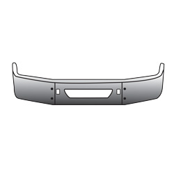 16 Inch Chrome Wrap Around Bumper Fits Volvo VNL Gen II