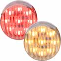 2 Inch 9 Diode LED Clearance Marker Light With Ribbed Clear Lens