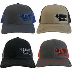 4 State Trucks Mesh Back Hat With Snap Back