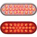 Oval 24 Diode Red Pearl Stop, Tail & Turn LED Light