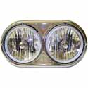 5.75 Inch Dual Round Headlight Assembly Fits Kenworth W900A & Peterbilt 359