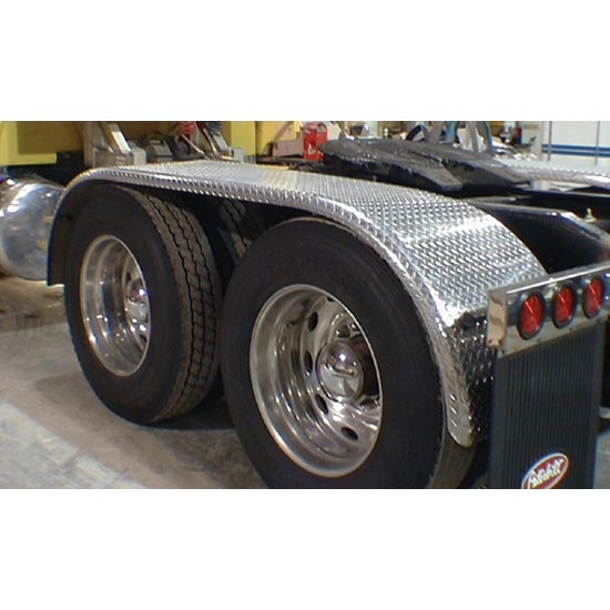 For A Semi Tractor Fenders : Diamond plate aluminum full fenders each state trucks