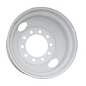 22.5 Inch Hub Pilot White Powder-Coated Steel Wheel With 2 Hand Holes